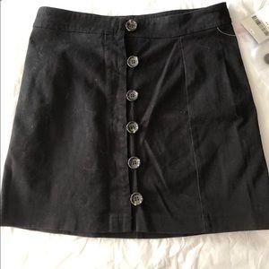 F21 button up skirt